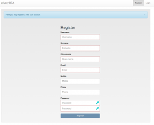privacyIDEA allows user self registration. Users can create their own user account.